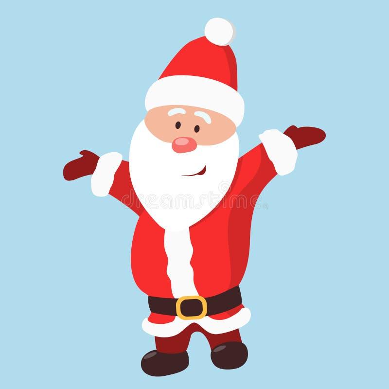 Papá Noel divertido aislado stock de ilustración