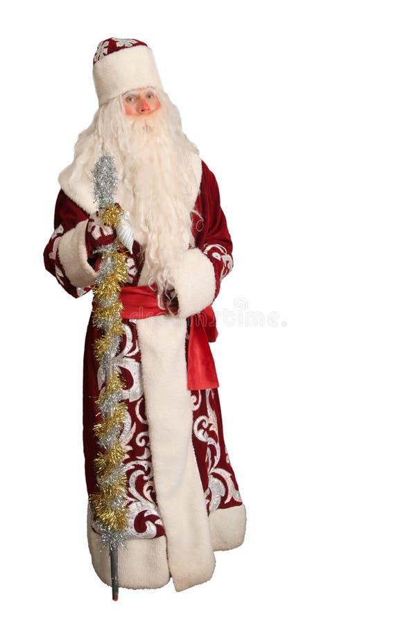 Papá Noel en blanco aislado foto de archivo libre de regalías