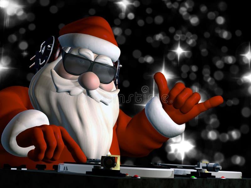 Papá Noel en casa de DA libre illustration