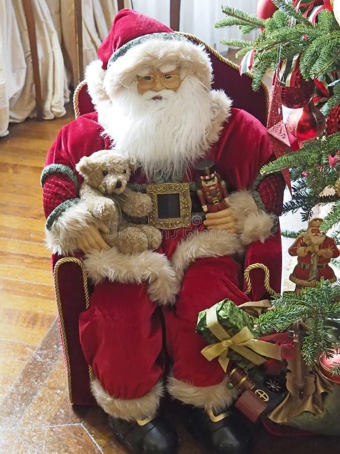 Papá Noel en el hogar del gremio de la ópera imagen de archivo libre de regalías