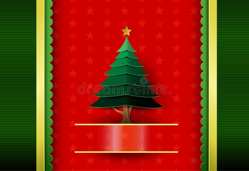 Papá Noel en un trineo Deletreado de la Feliz Navidad stock de ilustración