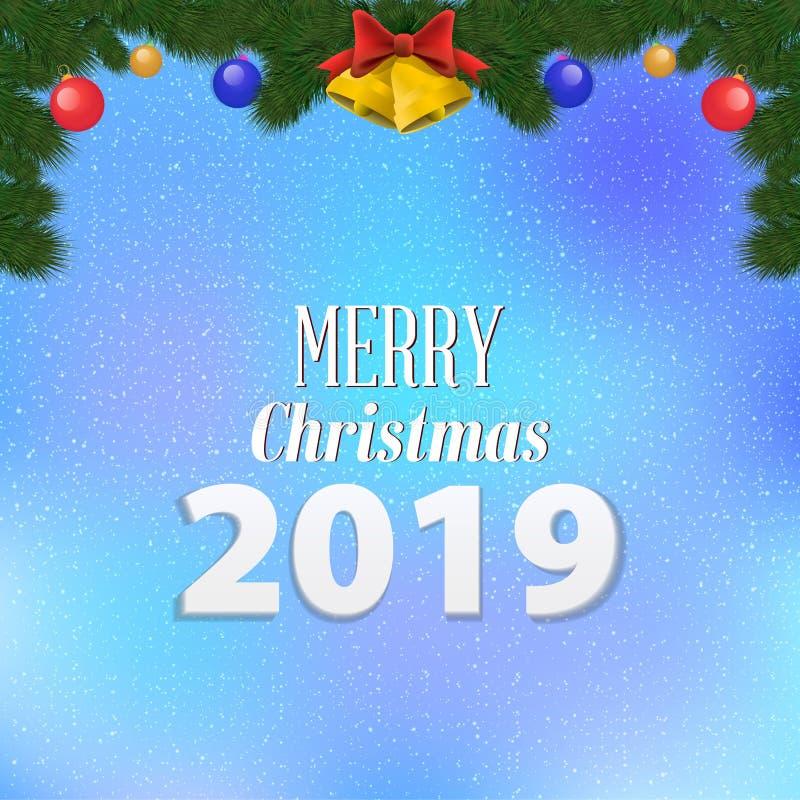 Papá Noel en un trineo Feliz diseño de la fiesta de Navidad con día de fiesta libre illustration