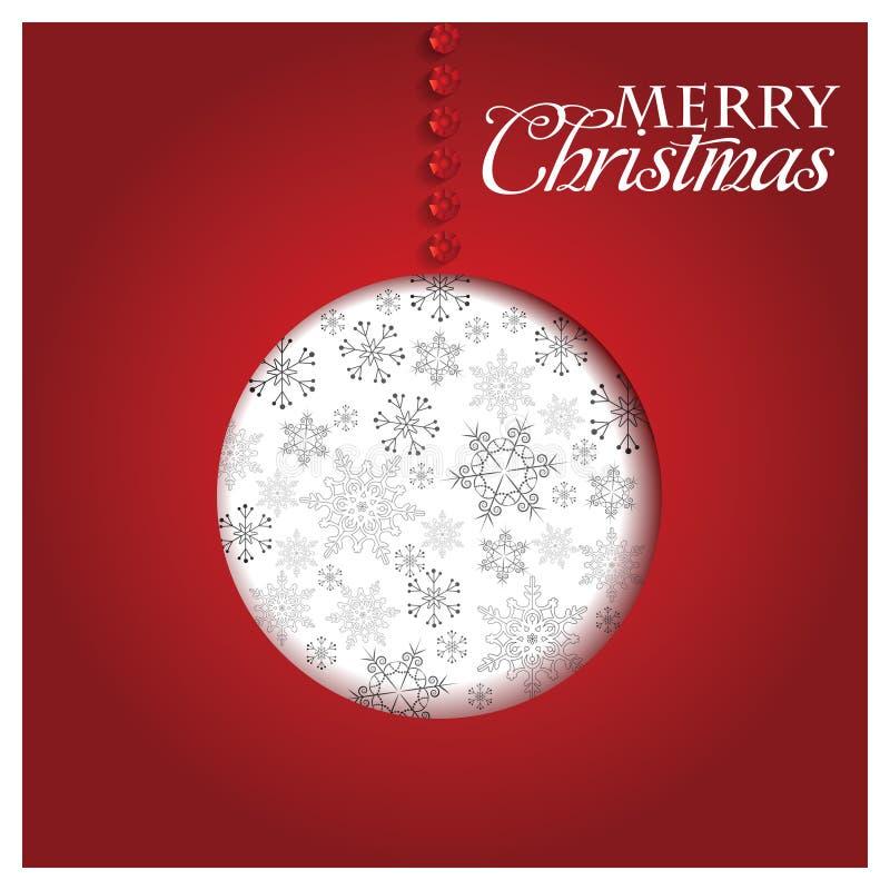 Papá Noel en un trineo Feliz Navidad ilustración del vector
