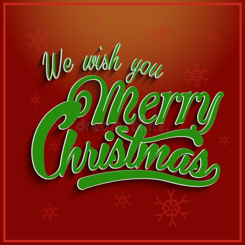 Papá Noel en un trineo letras, vector ilustración del vector