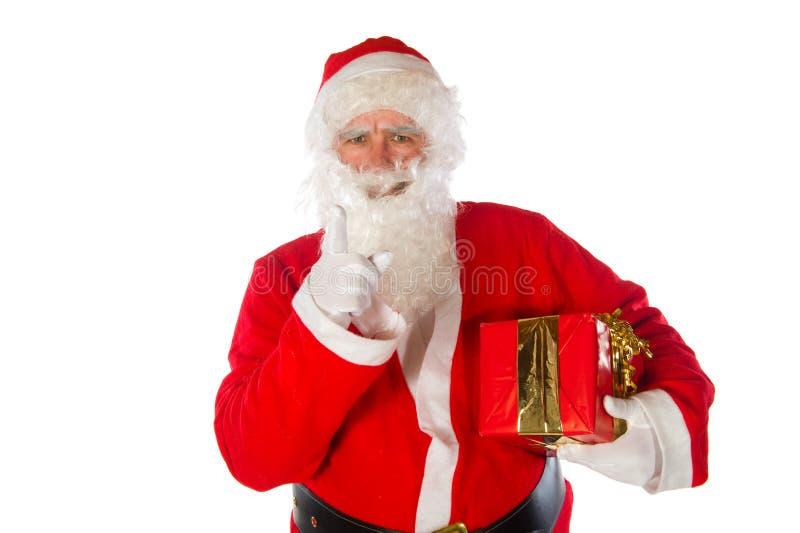 Papá Noel enojado imagenes de archivo