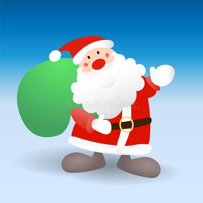 Papá Noel está viniendo libre illustration