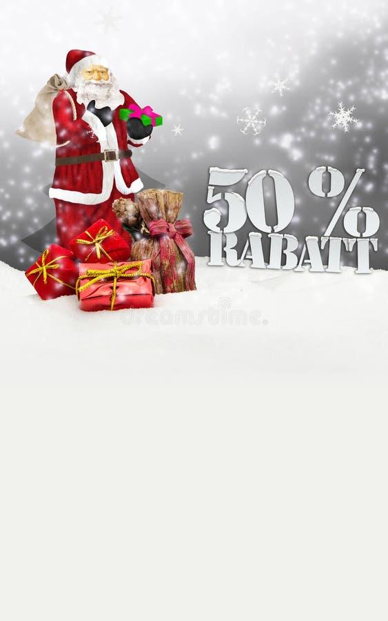 Papá Noel - Feliz Navidad descuento del 50 por ciento stock de ilustración