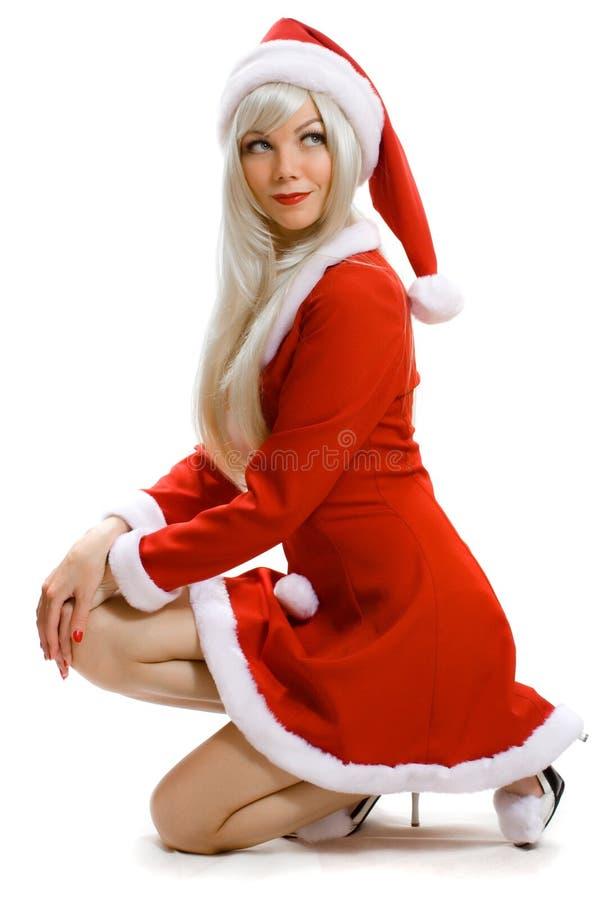 Papá Noel femenino fotografía de archivo libre de regalías