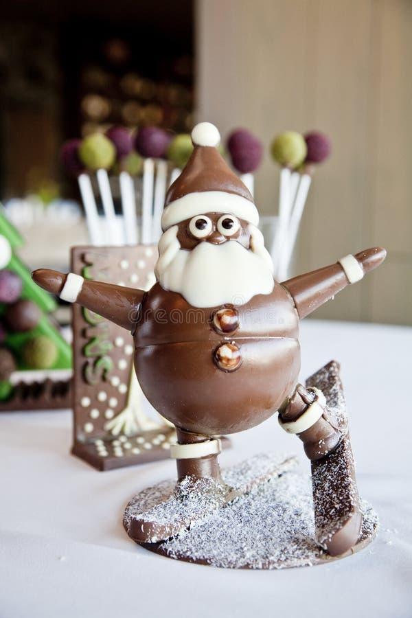 Papá Noel hizo el chocolate fotografía de archivo