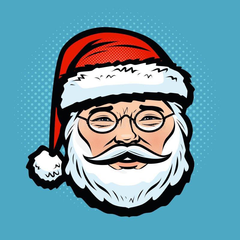Papá Noel _2 La Navidad, símbolo del día de fiesta Ilustración del vector de la historieta libre illustration