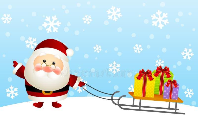 Papá Noel lindo ilustración del vector