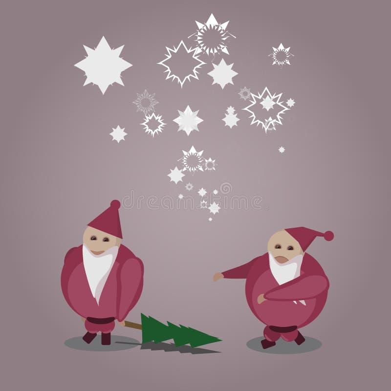 Papá Noel malo y Niza ilustración del vector