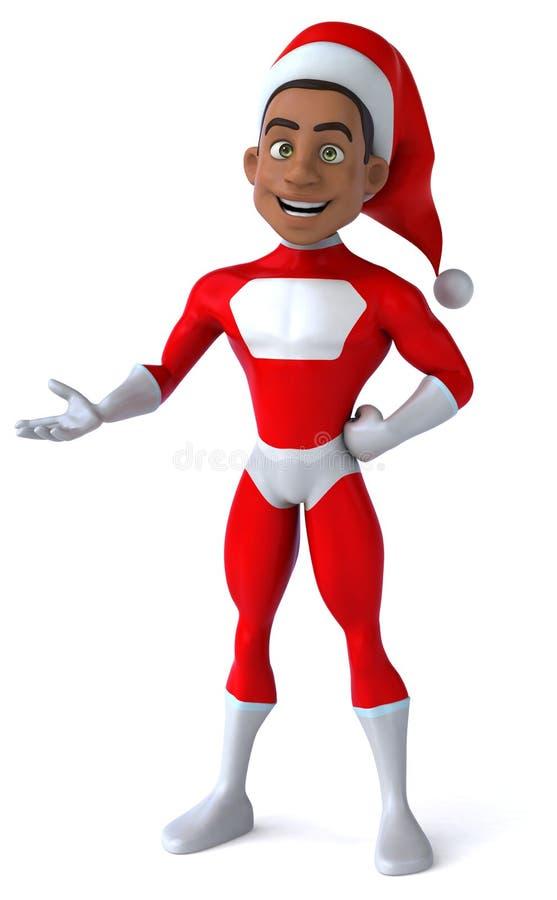 Papá Noel negro stock de ilustración