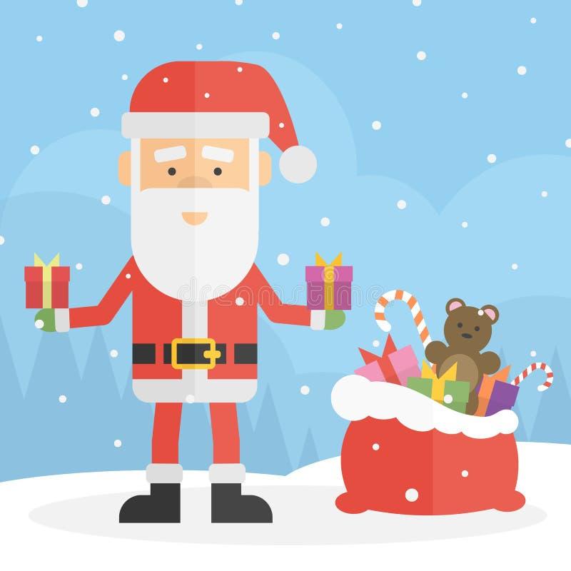 Papá Noel pintado a mano libre illustration