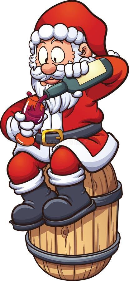 Papá Noel pintado a mano ilustración del vector