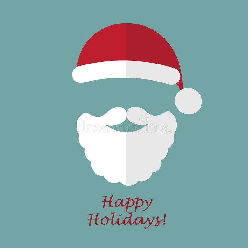 Papá Noel _2 Postal de la Navidad libre illustration