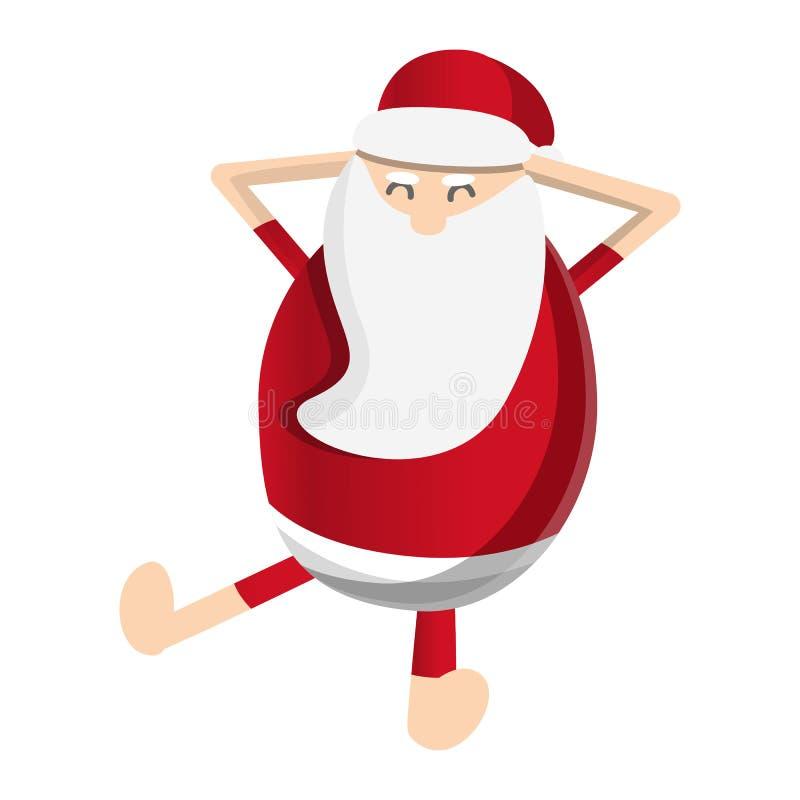 Papá Noel relaja el icono, estilo de la historieta libre illustration