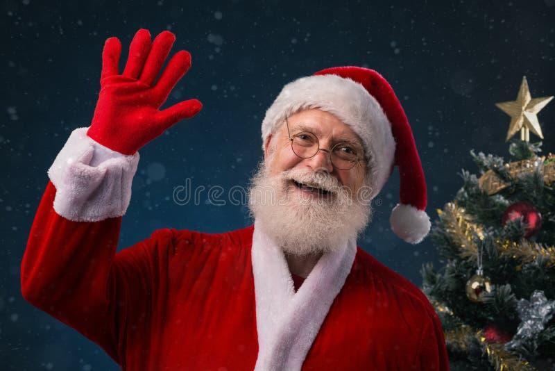 Papá Noel sonriente imagen de archivo libre de regalías