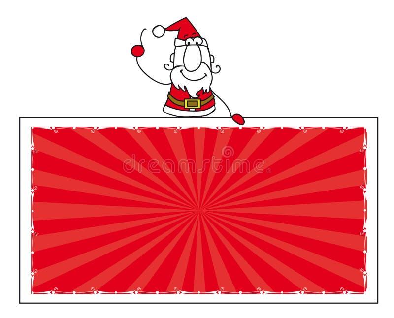 Papá Noel y la bandera libre illustration