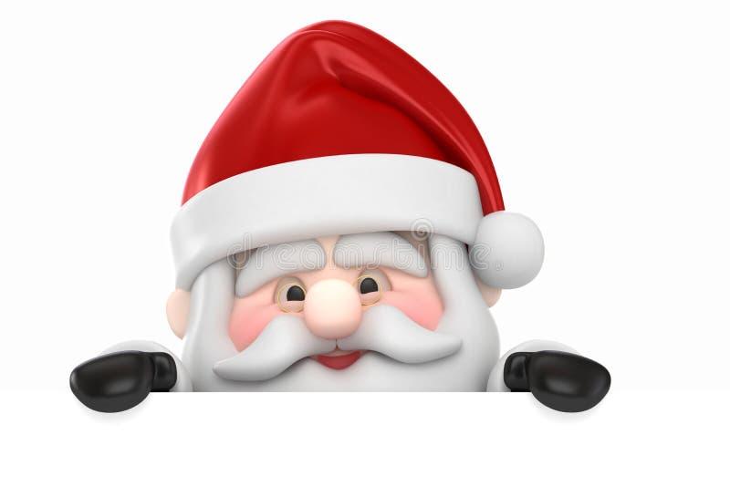 Papá Noel y una tarjeta en blanco libre illustration