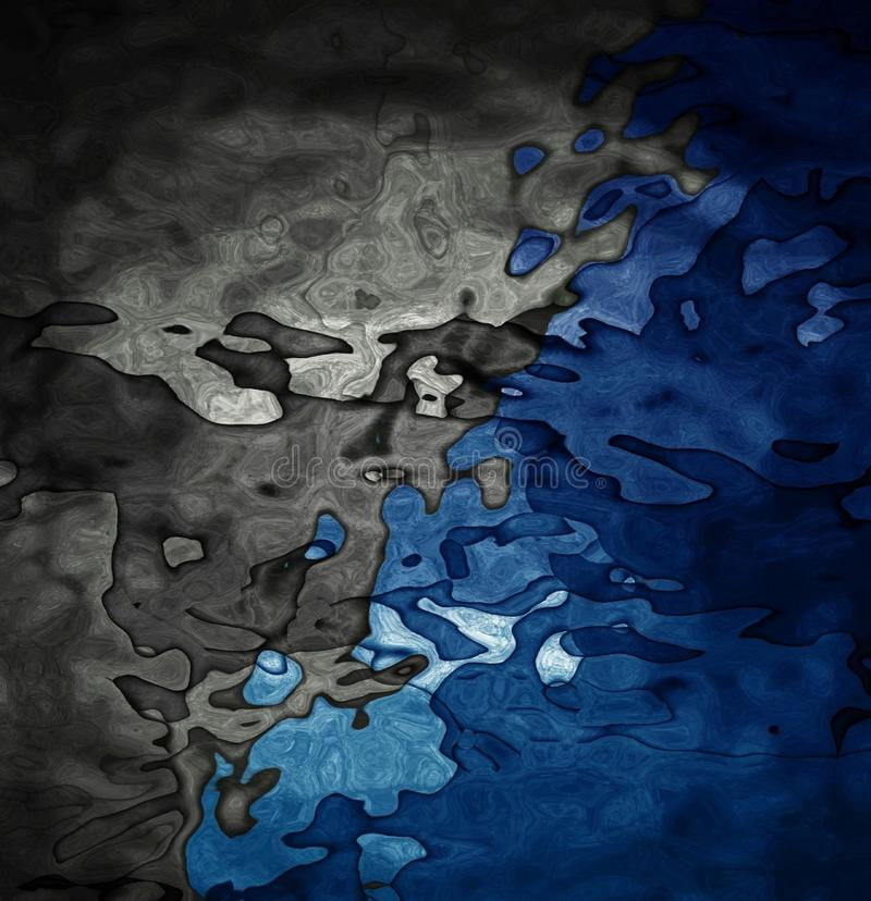 Papéis de parede aceitáveis azuis e pretos para a casa e o escritório ilustração do vetor