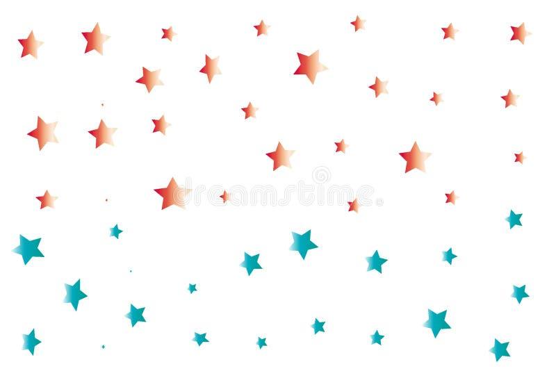 Papéis de parede dos confetes das estrelas ilustração do vetor