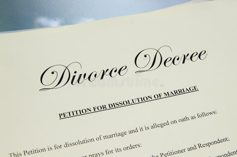 Papéis do divórcio imagens de stock royalty free