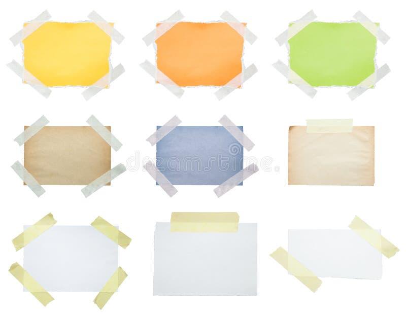 Papéis gravados ao branco fotografia de stock