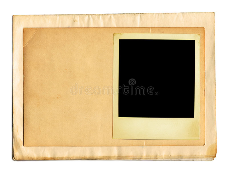 Papéis velhos (trajeto de +clipping) fotografia de stock royalty free