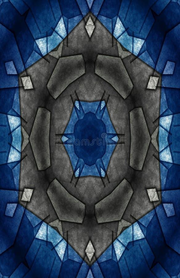 Pap?is de parede aceit?veis azuis e pretos para a casa e o escrit?rio ilustração do vetor