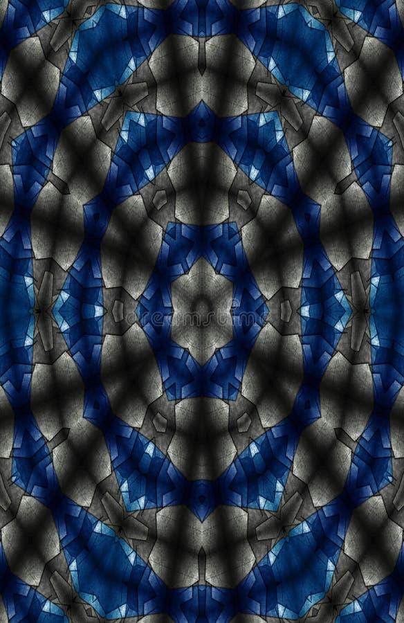 Pap?is de parede aceit?veis azuis e pretos para a casa e o escrit?rio ilustração stock