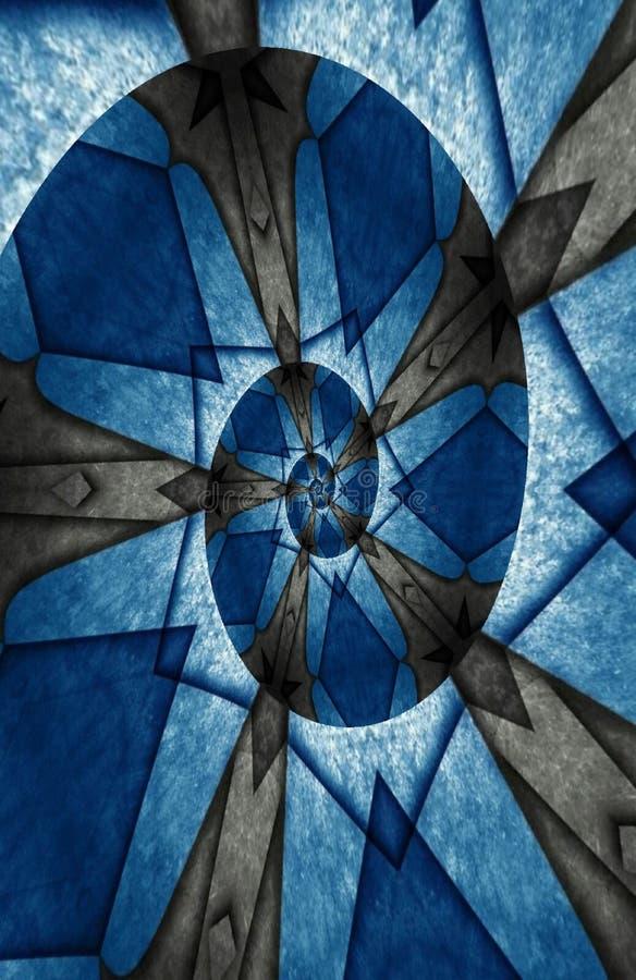 Pap?is de parede aceit?veis azuis e pretos para a casa e o escrit?rio ilustração royalty free