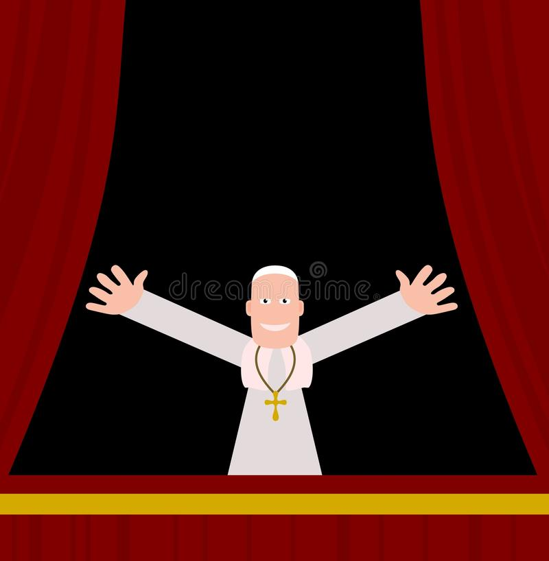 Papa ilustração royalty free