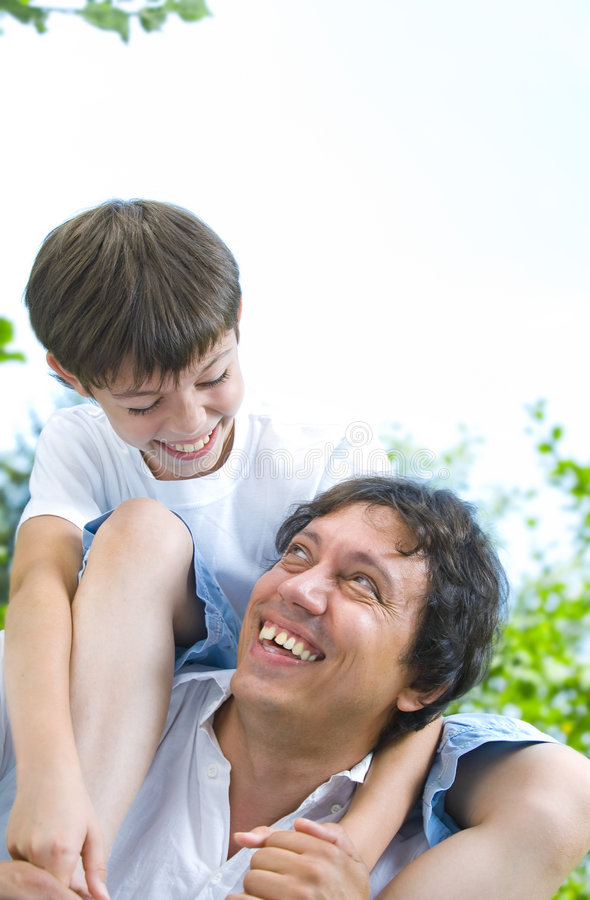 With papa royalty free stock photography