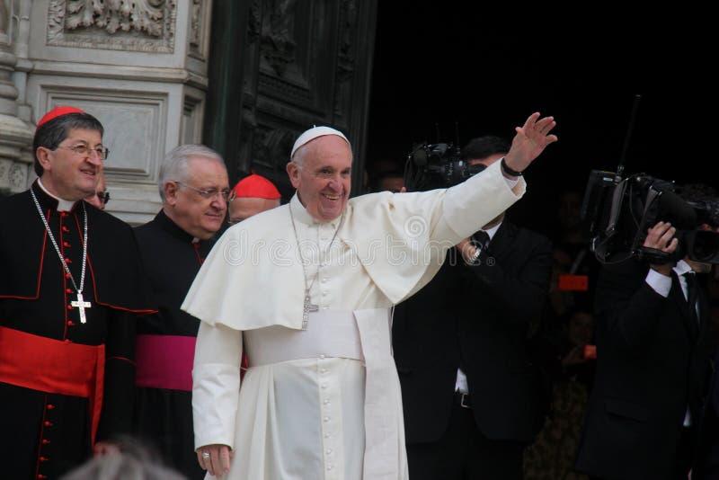 Papa Bergoglio Francesco em Florença imagens de stock royalty free