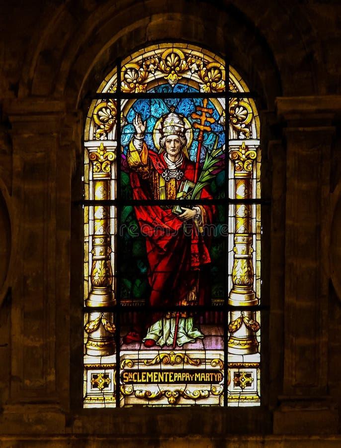 Download Papa Clement I, San E Martire - Vetro Macchiato Immagine Stock - Immagine di roma, vetro: 55352763