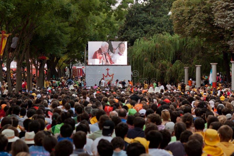 Papa em Madrid fotografia de stock royalty free