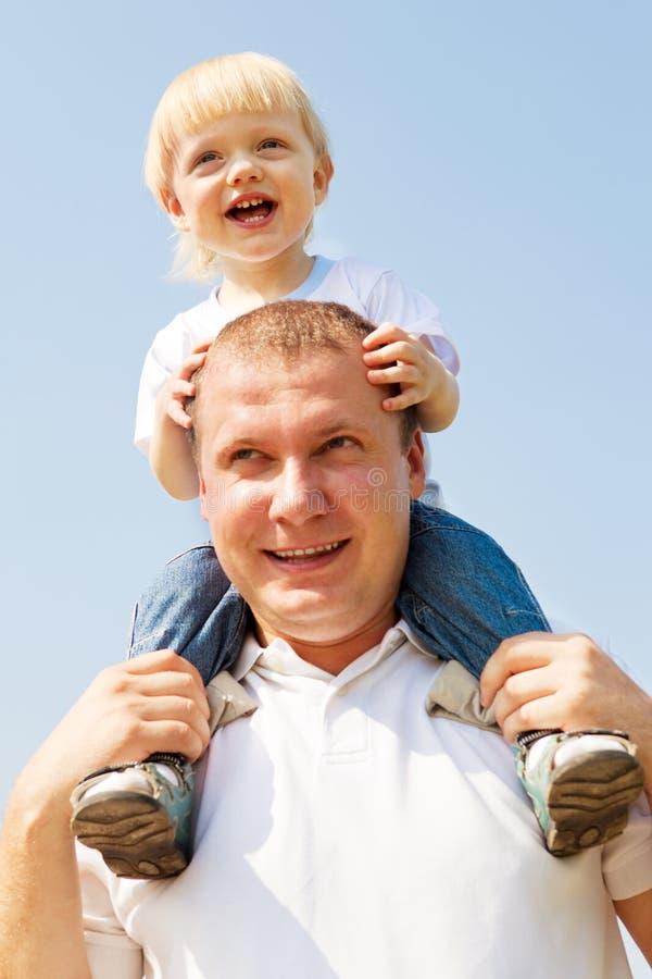 Papa en zoon royalty-vrije stock foto's