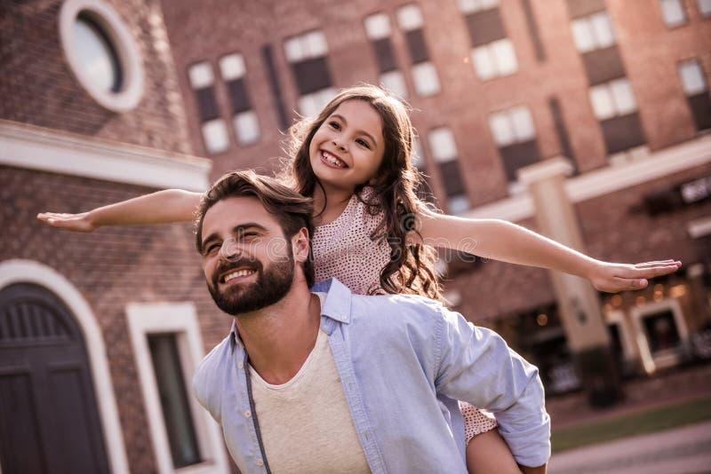 Papa et fille photo libre de droits