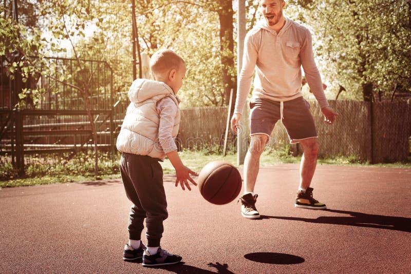 Papa et fils photos stock