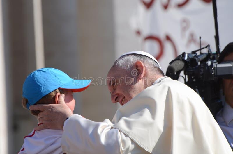 Papa Francis Portrait en la Ciudad del Vaticano imagen de archivo