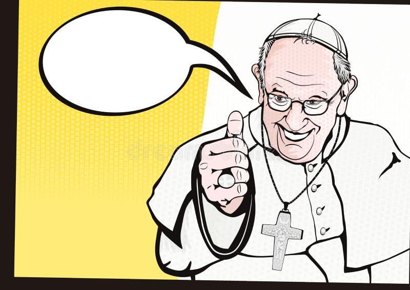 Papa Francisco stock de ilustración
