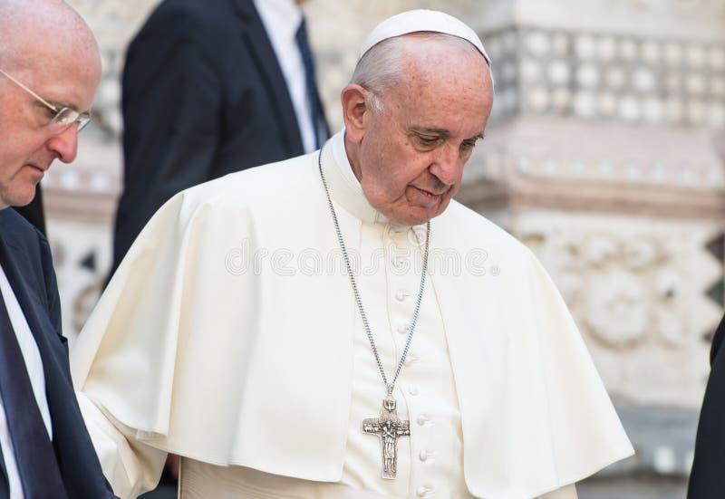 Papa Francisco fotografía de archivo