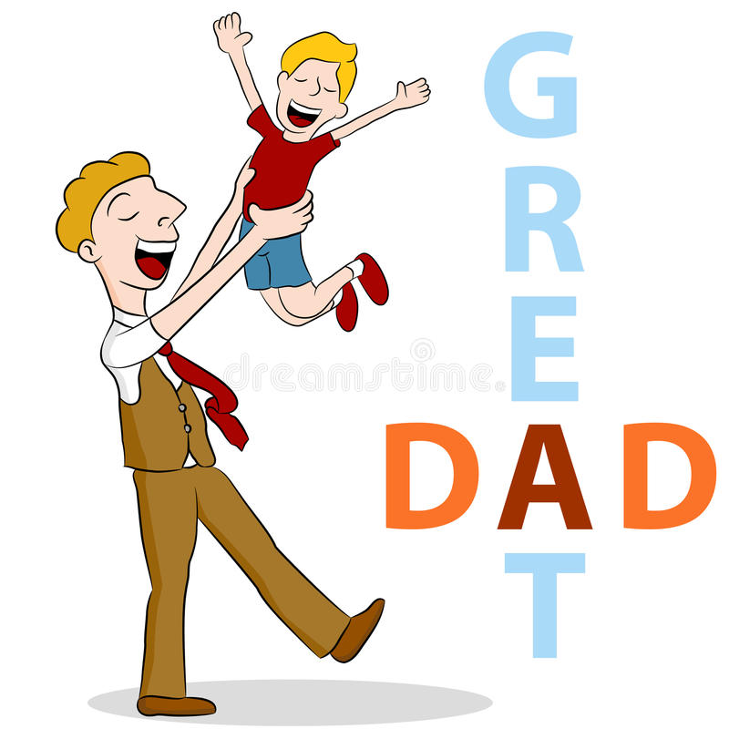 Papa grand illustration stock