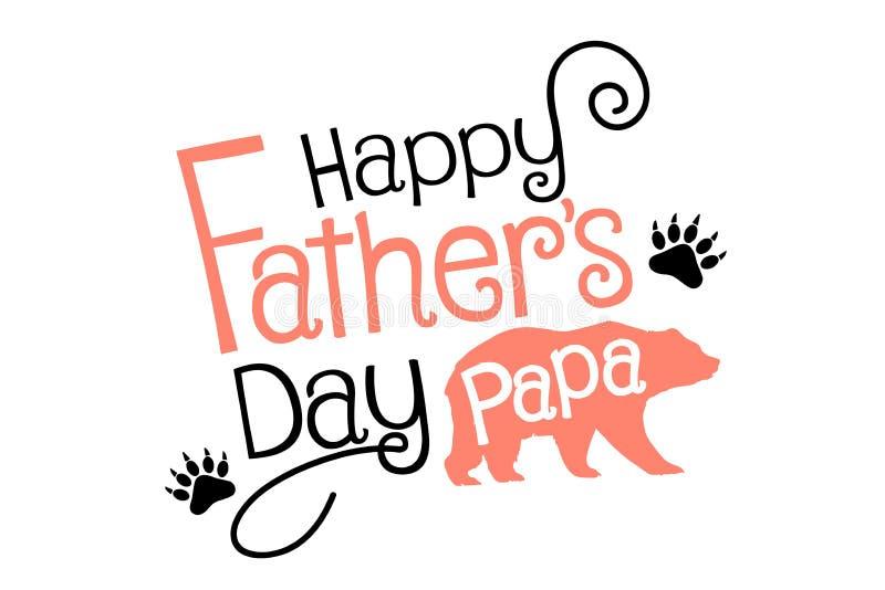 Papa heureux de jour de pères illustration libre de droits