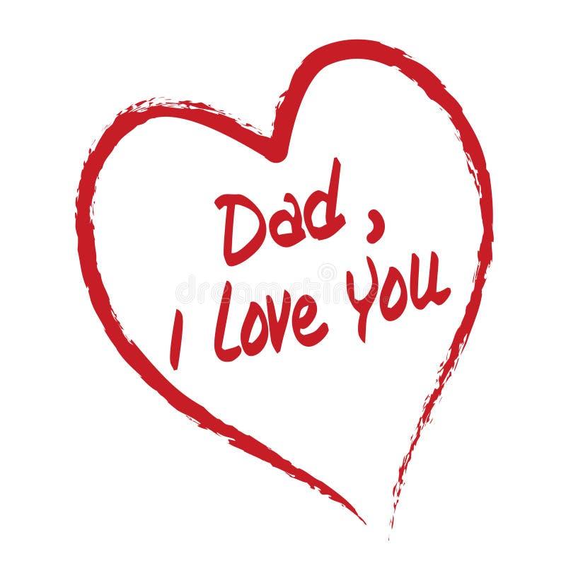 Papa I houdt van u vector illustratie