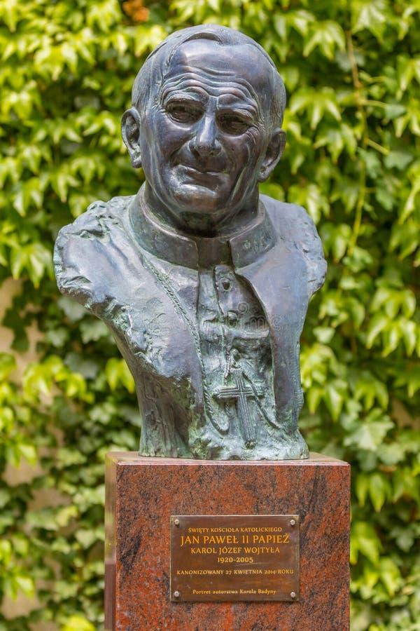 Papa John Paul II - escultura fotografia de stock royalty free