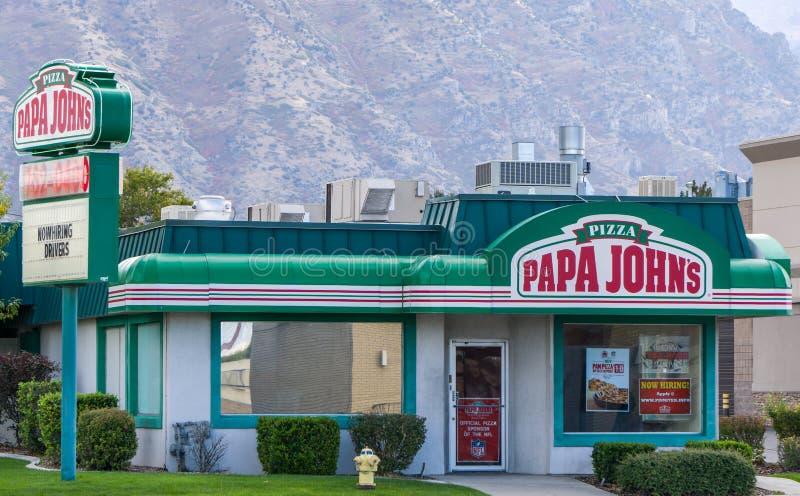 Papa John ' s-Restaurant-Äußeres stockbild