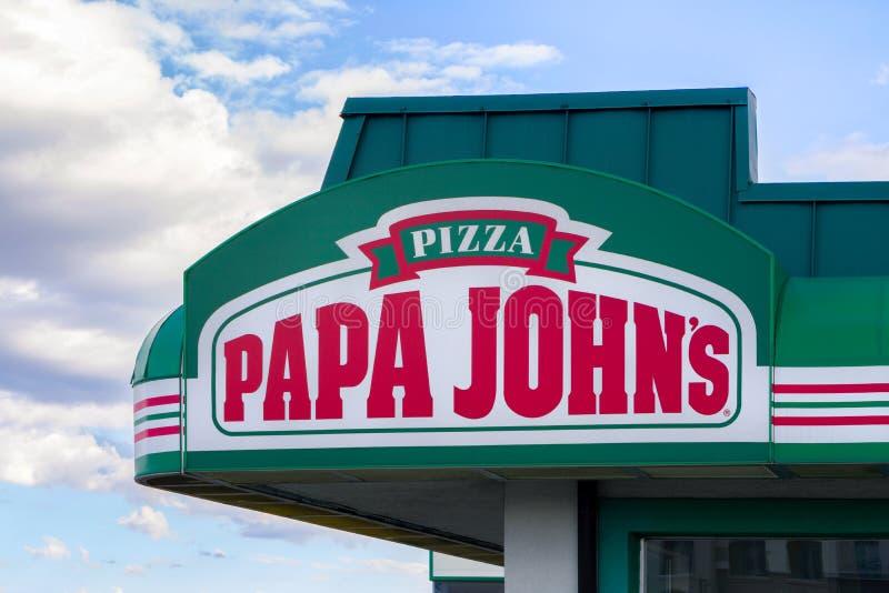 Papa John ' s-Restaurant-Äußeres lizenzfreie stockbilder