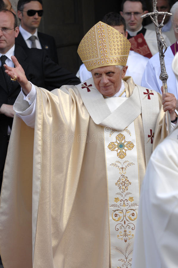 Papa Joseph Benedict XVI fotos de stock royalty free